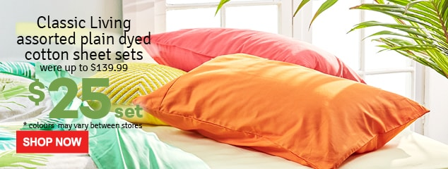 Classic-Living-Plain-Dyed-Sheet-Set-Assorted