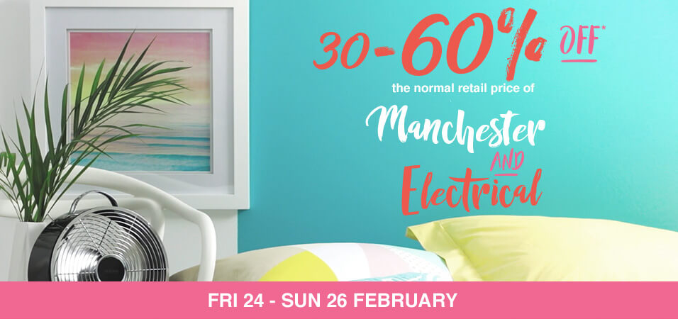 30_60percent_off_Manchester_and_Electrical_24-26_Feb