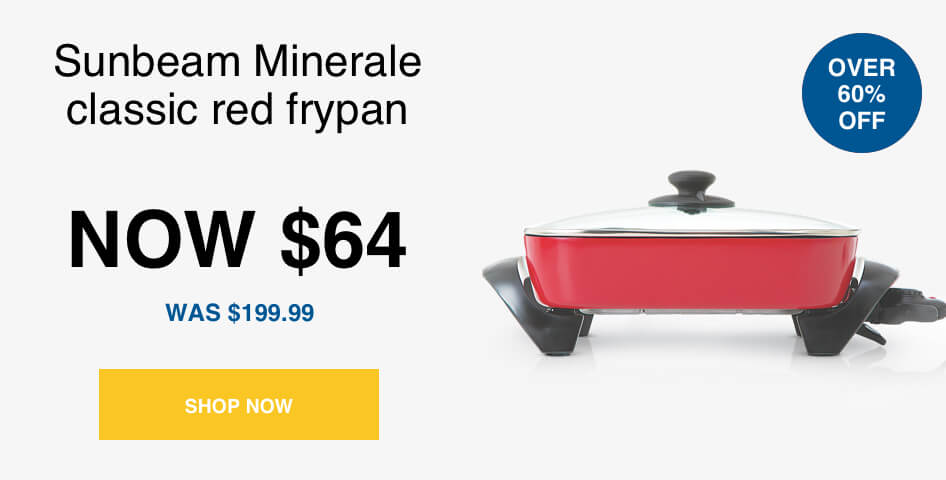 Sunbeam-FP5920R-Minerale-Classic-Banquet-Electric-Frypan-Red